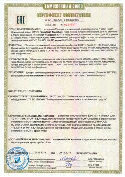 Сертификат соответствия телекоммуникационные